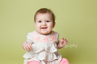 Green and Pink Baby Session